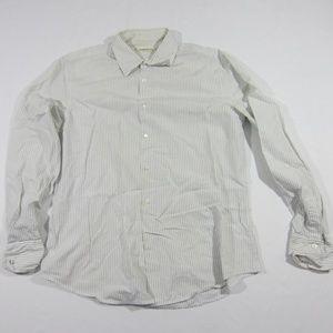 Mens John Varvatos USA Striped Button Up Shirt L